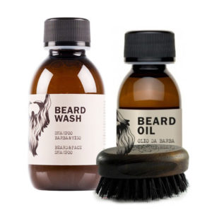 kit beard wash shampoo barbaviso 150ml shave oil olio naturale da rasatura 50ml spazzola barba baffi dear beard