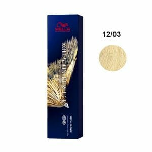 koleston perfect me 12 03 superschiarente naturale dorato 60ml wella